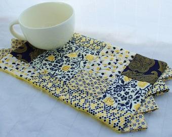 A Navy & Yellow Masterpiece Quilts Mug Rug