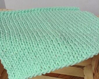 Mint Layer Blanket, Bump Blanket, Mini Layer Blanket, Mint Layer Prop, Newborn Photography Prop, Knit Layer Blanket, Knit Prop Blanket