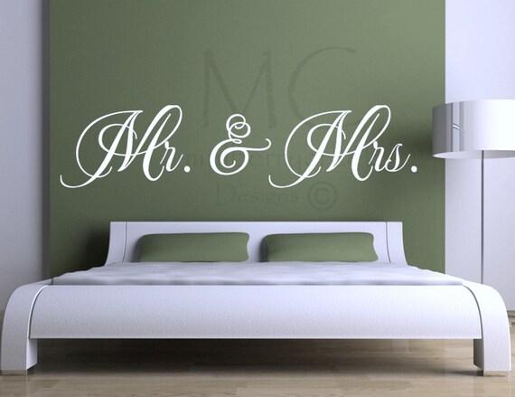 vinyl wall decal mr mrs vinyl lettering for master