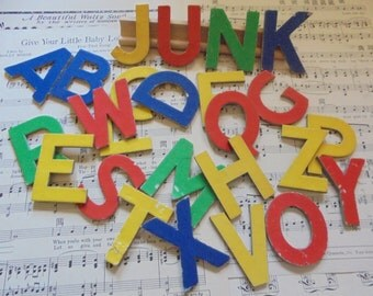 Colorful letters for play or for crafts and repurposing