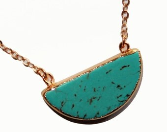 turquoise pendant, Turquoise stone, turquoise necklace, turquoise stone jewelry, natural stone