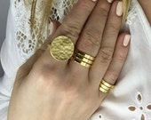 Gold Disc Ring