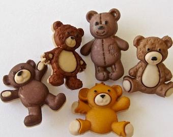 Stuffed Bears Craft Sewing Embellishment Buttons Dress It Up