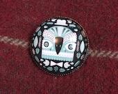 Glass Brooch Pin - Mr. Bird