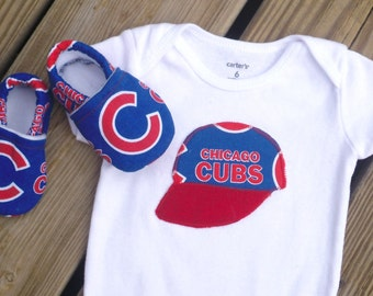 Chicago Cubs Baby / Toddler Bodysuit and Crib Shoes