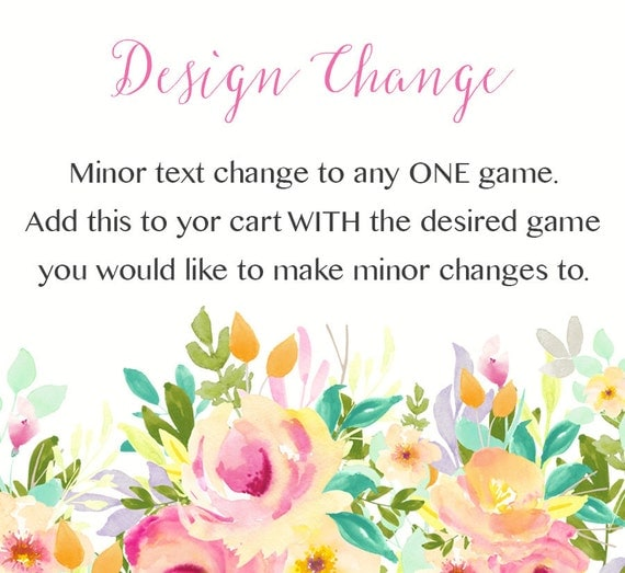 Cheap Design Changes That Have: Custom Change To Any Instant Download Design Within The Shop