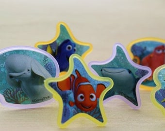 Finding Dory Rings/ Cupcake Toppers / Cupcake Decorations / Nemo Dory Party