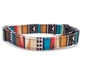 Native Strip Aztec Dog Collar (Leash Available)