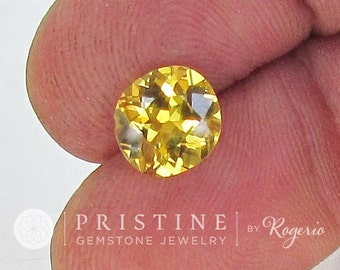Yellow Sapphire Over 2 Carats Cushion Large Loose Gemstone for Weddings Anniversary Ring or Engagement Ring September Birthstone