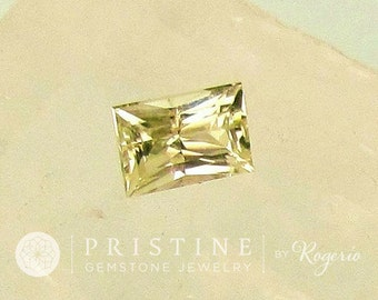 Radiant Cut Yellow Sapphire Fine Quality 2 Carats Engagement Ring September Birthstone