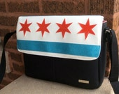 Chicago Flag Messenger Bag / Medium Messenger Bag / CHICAGO PRIDE / Swoon Patterns Dorian