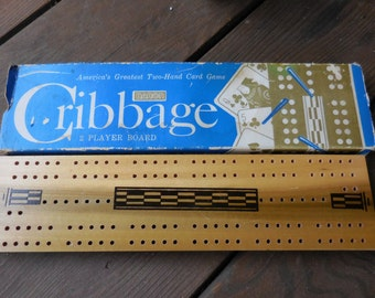 Vintage 1960s to 1970s Baron Cribbage 2 Player Board No. 5-1062/100 Game