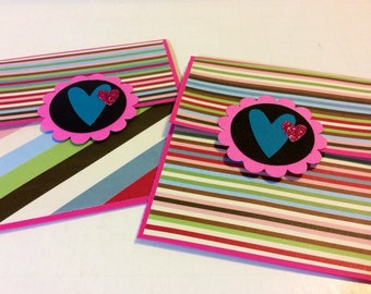 Valentine's Day giftcard holders (2) love birthday