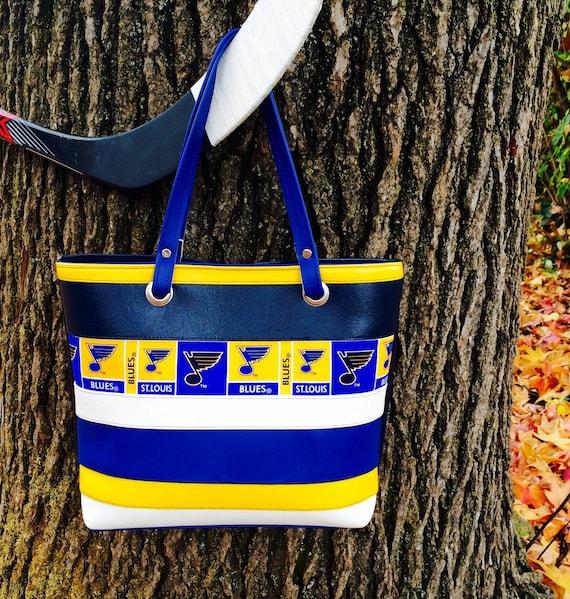 St Louis Blues Hockey Purse Handbag Vinyl Color Block