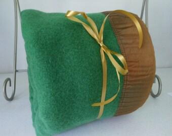 Wool Vtg Blanket Green