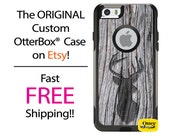 iPhone OtterBox Commuter Case for iPhone 6/6s, 6 Plus/6s Plus, 5/5s, 5c, 4/4s, Galaxy S6 S5 S4 Note 5 4 Custom Tree Deer Silhouette Case
