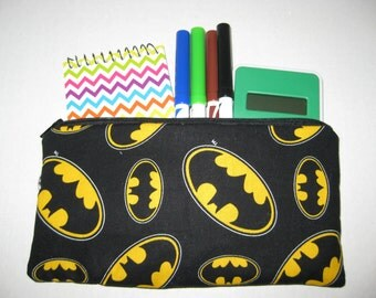 Batman Super Hero Zipper Pencil Case