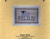 Finger Work: Ewe Among Flowers - Cross Stitch Pattern