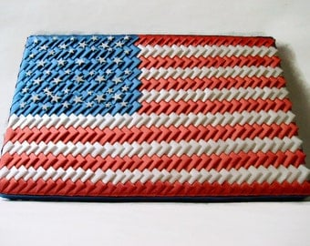 American Flag Ribbon Art