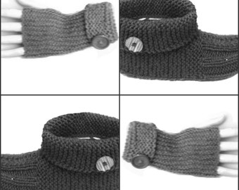 2 Patterns Set Fingerless Gloves and Booties With Button PDF Pattern Is not a finished product. It is a PDF Pattern