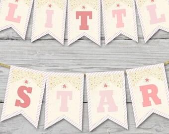 Twinkle Twinkle Little Star Birthday Pendant Banner PRINTABLE, Twinkle Little Star Party Decoration, Twinkle Little Star Banner