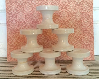 Ex-Large Porcelain Insulators / Architectural Salvage / Craft Supply