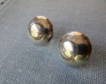 sterling silver earrings - round, studs, pierced