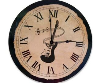 Guitar clock | Music | Clock | Wall Clock | Music clock | Guitar | Teacher Gift | Instrument | Music Lover