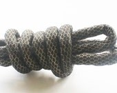 fabric rope, tribal jewelry, diy necklace, gold and black, metallic fabric, textile rope, fabric cord, jewelry cord, tribal rope mc89
