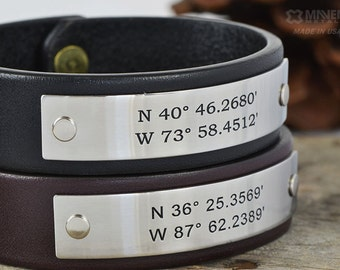 His and Hers Friendship Personalized Leather Bracelets - Two (2) Personalized Leather Bracelets. Mr and Mrs Bracelets - Hand Crafted in USA