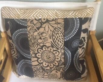 Burlap Quilted Decorative Pillow