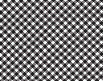 Michael Miller Fabric - Cross Check in Coin - Flowers A Plenty - By The Yard
