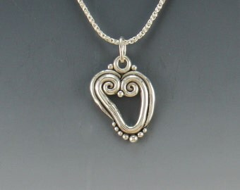 Sterling Silver Heart Pendant- One of a Kind