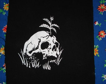 skull growing a plant PATCH