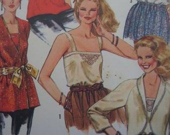 EVENING CAMISOLE Pattern • Simplicity 5352 • Miss 12 • Cropped Jacket • Eyelet Jacket • Sewing Patterns • Vintage Patterns • WhiletheCatNaps