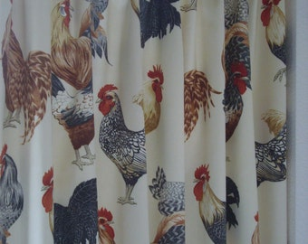 Rooster Cafe Curtains Rooster Kitchen Cafe Curtain Cafe Rooster Curtain  Kitchen Curtains Unlined