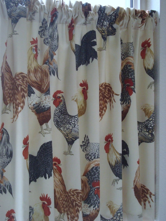 Rooster Cafe Curtains Rooster Kitchen Cafe Curtain Cafe