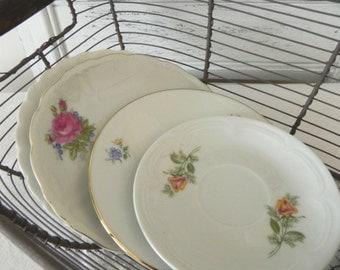 Mismatched Set of Vintage Saucers