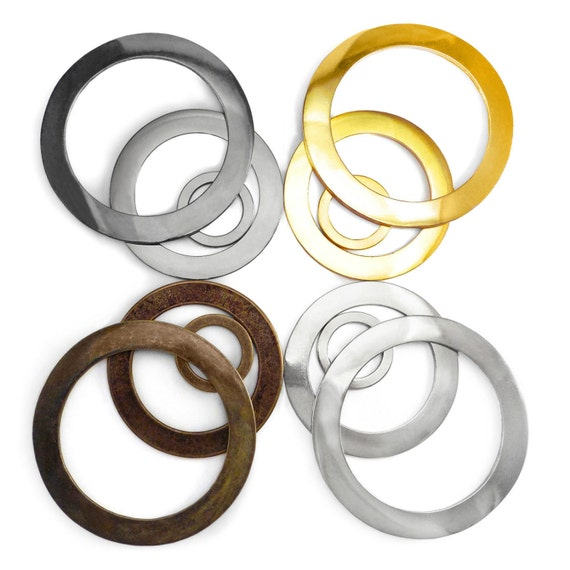 large solid cast wide o rings metal bags collars craft 30 66