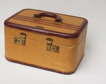 Vintage Aero Pak Mustard and Maroon Luggage