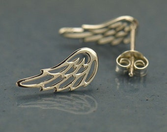 Angel Wing Earrings - Silver Angel Earrings - Angel Jewelry - Angel Wing Jewelry