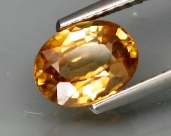 Spectacular Golden Yellow Zircons, Calibrated Faceted Cut Ovals, 8 x 6 MM, 5 To Choose From Natural And Genuine, Tanzania