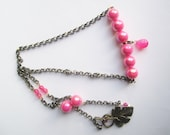 Neon BoHo Necklace ./. Pink Neon Necklace ./. Spring Celebration ./. Colorful Jewelry ./. Collier ./. Playful Necklace ./. Chain Necklace