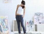 Womens trousers ,Grey Skinny pants, Line...