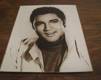 Very old photograph of Elvis, probably reproduction - but an old one 11.5 x 13 inches