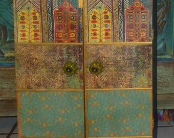 Moroccan inspired Cabinet, jewelry box, keepsake box, wedding gift, medicine cabinet