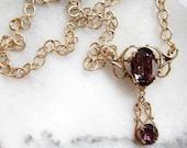 Reserved for Barbara - Vintage Amethyst Pendant Necklace