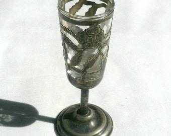 Vintage Sterling Silver And Glass Cordial