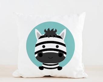 Animal Zebra Nursery Pillow, Kids Pillow Cushion, Home decor