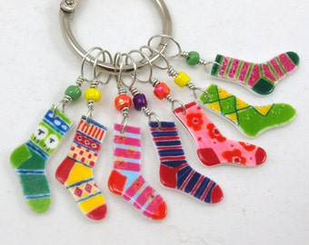 crazy socks #2, colorful knitting accessory, fun gift for knitters, gift wrap available